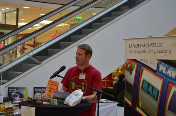Eröffnungsrede des Leiters der Landesfachstelle Glücksspielsucht, Herr Markus Arand.
