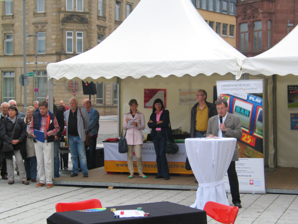 Aktionsfläche auf dem Kleinen Markt in Saarlouis